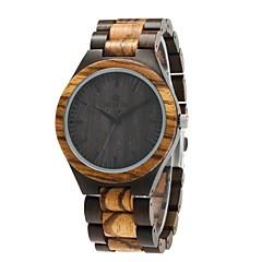 preiswerte Herrenuhren-Herrn Uhr Holz Japanisch Quartz hölzern Holz Band Luxus Elegant Schwarz Braun