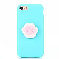 Χαμηλού Κόστους Θήκες iPhone 7-tok Για Apple iPhone 7 Plus iPhone 7 Squishy Φτιάξτο Μόνος Σου Πίσω Κάλυμμα Συμπαγές Χρώμα Κινούμενα σχέδια 3D Μαλακή Σιλικόνη για iPhone