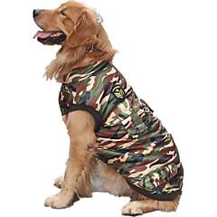 Koira Liivi Koiran vaatteet Rento/arki Poliisi/Armeija Naamiointiväri