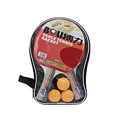 お買い得  卓球-Ping Pang/卓球ラケット Ping Pang/卓球ボール Ping Pang ラバー ロングハンドル にきび 2 ラケット 3 ピンポン球 1 卓球バッグ
