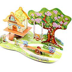 ieftine -Puzzle 3D Puzzle Μοντέλα και κιτ δόμησης Clădire celebru Navă Arhitectură Reparații Hârtie Rigidă pentru Felicitări Clasic Anime Desen
