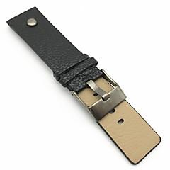 preiswerte Herrenuhren-PU-Leder Uhrenarmband Gurt Schwarz Orange Braun 213 24cm / 9 Zoll 2cm / 0.8 Inch