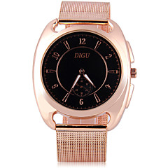 preiswerte Herrenuhren-Herrn Modeuhr / Einzigartige kreative Uhr / Simulierter Diamant Uhr Chinesisch Imitation Diamant Metall Band Glanz Rotgold