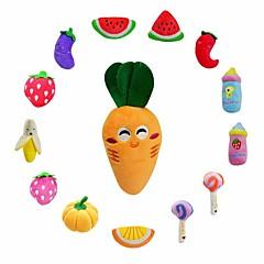 Zabawka dla kota Zabawka dla psa Zabawki dla zwierząt Interaktywne Zabawki Pluszowe Zabawki piszczące Słodki Pisk Elastyczny Owoc Dynia