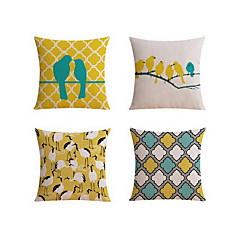 4 szt Bielizna Poszewka na poduszkę Pokrywa Pillow Poduszka na łóżko Poduszka Body Pillow Poduszka turystyczna sofa Poduszka,Geometryczny