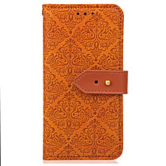 Case voor xiaomi redmi note 4 / 4x case cover kaarthouder portemonnee met tribune flip reliëf patroon full body case bloem hard pu leer