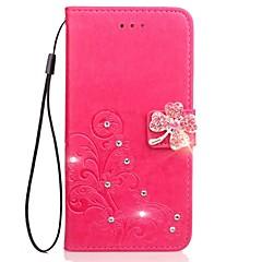 billige Etuier til Nokia-Etui Til Nokia Lumia 925 Nokia Lumia 630 Nokia Lumia 640 Nokia Nokia Lumia 530 Nokia Lumia 930 Kortholder Pung Rhinsten Med stativ Flip