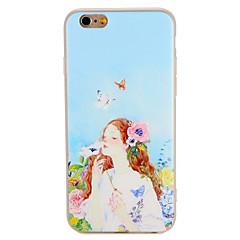 Чехол для Apple iphone 7 плюс 7 обложка рельефный узор задняя крышка чехол бабочка сексуальный леди цветок мягкий tpu 6s плюс 6 плюс 6 6s