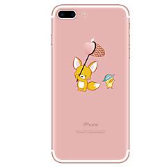 Недорогие Кейсы для iPhone 6 Plus-Кейс для Назначение Apple iPhone X / iPhone 8 / iPhone 8 Plus Прозрачный / С узором Кейс на заднюю панель Мультипликация Мягкий ТПУ для iPhone X / iPhone 8 Pluss / iPhone 8