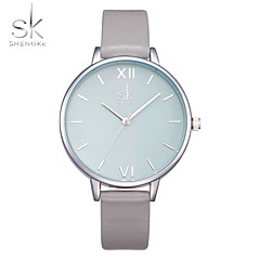 SK Női Divatos óra Karóra Kínai Kvarc Ütésálló Nagy számlap PU Zenekar Alkalmi Luxus minimalista Szürke
