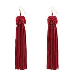 preiswerte Ohrringe-Damen Quaste Tropfen-Ohrringe - Quaste, Böhmische, Modisch Gelb / Rot / Grün Für Hochzeit Jahrestag Einweihungsparty