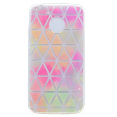 Case for Motorola G5 G5 Plus Cover Translucent Pattern Back Cover Case Grid Network Soft TPU Case