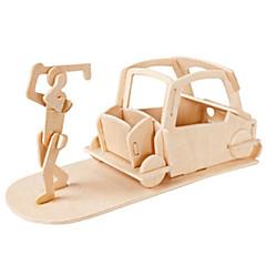 abordables Puzzles 3D-Muwanzi Puzzles 3D Puzzle Juguetes de golf Maquetas de madera Aeronave Edificio Famoso Mobiiario Golf Arquitectura 3D Manualidades Madera