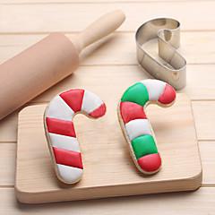 お買い得  ベイキング用品&ガジェット-クリスマスキャンディーケーキクッキーカッターステンレスビスケットケーキ金型キッチンベーキングツール