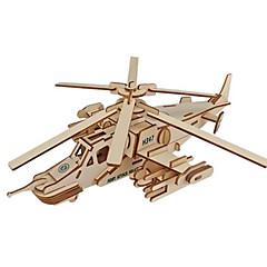 ieftine -Puzzle 3D Puzzle Μοντέλα και κιτ δόμησης Aeronavă Luptător Shark 3D Simulare Reparații De lemn Clasic Unisex Cadou
