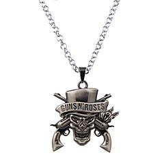 preiswerte Halsketten-Herrn / Damen Statement Ketten  -  Einzigartiges Design, Klassisch, Gothic Schwarz, Silber, Bronze Modische Halsketten Für Party, Geburtstag, Danke