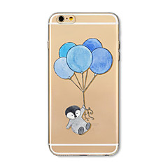 billige Etuier til iPhone 6s-Etui Til Apple iPhone X iPhone 8 Plus Transparent Mønster Bagcover Ballon Tegneserie Dyr Blødt TPU for iPhone X iPhone 8 Plus iPhone 8