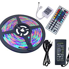 お買い得  LED ストリングライト-HKV ライトセット 300 LED RGB リモートコントロール カット可能 防水 ノンテープ・タイプ 100-240V