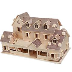 abordables Puzzles 3D-Puzzles 3D Puzzle Maquetas de madera Juguetes de construcción Edificio Famoso Casa Manualidades Madera Clásico Unisex Regalo
