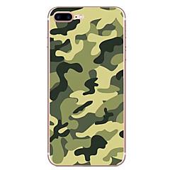 Случай для яблока iphone 7 7 плюс крышка камуфляжа крышки hd покрашенная tpu материал мягкий случай случая телефона для iphone 6s 6 плюс