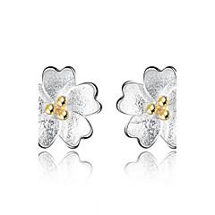preiswerte Ohrringe-Damen Ohrstecker - Blume Silber Für Abschluss / Geschäft / Alltag
