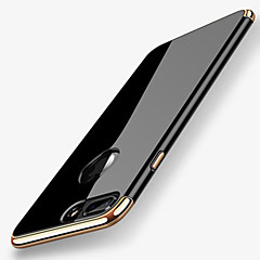 voordelige iPhone 7 Plus hoesjes-hoesje Voor Apple iPhone X iPhone 8 Beplating Achterkant Effen Kleur Zacht TPU voor iPhone X iPhone 8 Plus iPhone 8 iPhone 7 Plus iPhone