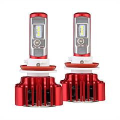 Nighteye h11 auto-led koplamp kit super fel 8000lm 60w auto lamp gloeilamp vervangende lamp enkele balk 6000k led auto licht