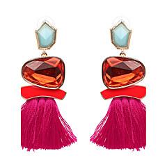 preiswerte Ohrringe-Damen Quaste Tropfen-Ohrringe - Luxus, Quaste, Punk Grün / Blau / Rosa Für Party / Abschluss / Alltag / überdimensional