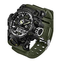 preiswerte Tolle Angebote auf Uhren-SANDA Herrn digital Armbanduhr Smartwatch Sportuhr Japanisch Wasserdicht LED Nachts leuchtend Fitness Tracker Duale Zeitzonen Silikon Band