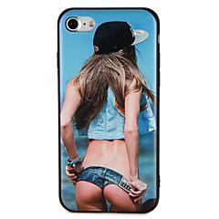 お買い得  iPhone 5S/SE ケース-ケース 用途 iPhone 7 Plus iPhone 7 iPhone 6s Plus iPhone 6 Plus iPhone 6s iPhone 6 iPhone 5 Apple パターン エンボス加工 バックカバー セクシーレディ ソフト TPU のために