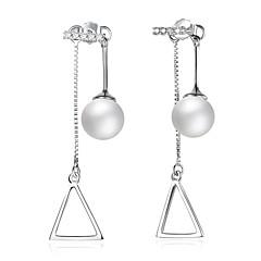 Dames Druppel oorbellen Imitatie Parel ZirkoniaBasisontwerp Cirkelvormig ontwerp Uniek ontwerp Hangende stijl Natuur Meetkundig