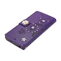 Назначение Чехлы панели Кошелек Бумажник для карт со стендом Флип Магнитный Своими руками Чехол Кейс для Бабочка Цветы Твердый
