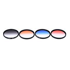 Andoer professionele 67mm gnd afgestudeerde filter set gnd4 (0.6) grijsblauw oranje rood afgestudeerde neutrale dichtheid filter