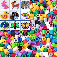 약 500PCS / 가방 5mm 혼합 색상 퓨즈 비즈 하마 비즈 아이를위한 DIY 퍼즐 EVA 소재의 추구한다 (임의의 색)