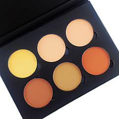 6 Color in 1 Palette , 4 Color Palette Select Púder Korrektor/Contour Arcpirosítók Kiemelők és barnítók Száraz Matt Alapozó Fehérítés Bőr