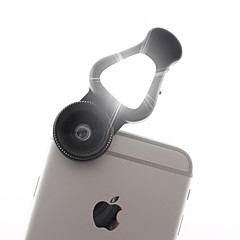 Objectif 3 en 1 pour téléphone portable avec lampe flash led 15x macro lentille&Objectif grand angle 0.62x&Lentille de fisheye