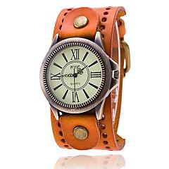 Χαμηλού Κόστους Γυναικεία ρολόγια-Ανδρικά Χαλαζίας Βραχιόλι Ρολόι Κινέζικα Καθημερινό Ρολόι Δέρμα Μπάντα Βίντατζ Καθημερινό Μοναδικό Watch Creative Κομψή Μοντέρνα Μαύρο