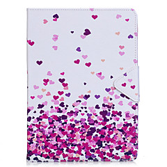 Caso para el ipad favorable 10.5 de la manzana ipad (2017) la manga plana material del patrón rosado material del corazón de la PU