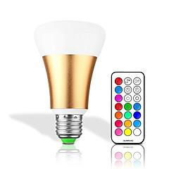 preiswerte LED-Birnen-1pc 10 W 700 lm B22 / E26 / E27 Smart LED Glühlampen 1 LED-Perlen Integriertes LED Abblendbar / Ferngesteuert / Dekorativ RGBW / RGBWW 85-265 V / 1 Stück / RoHs