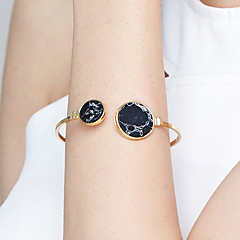 Women's Cuff Bracelet Jewelry Fashion Movie Jewelry Hypoallergenic Brass Gold Plated Stainless steel Alloy Circle Jewelry For Anniversary