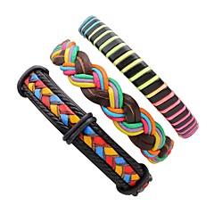 preiswerte Armbänder-Herrn Damen Lederarmbänder - Leder Hip-Hop Armbänder Regenbogen Für Bühne Strasse
