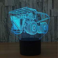 preiswerte Ausgefallene LED-Beleuchtung-1set 3D Nachtlicht Berühren Sie 7-Color USB Berührungssensor Farbwechsel