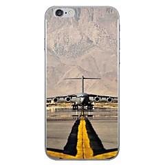 Случай для яблока iphone 7 7 плюс крышка случая крышки аэропорта hd покрасила более толстый материал tpu мягкий случай случая телефона для