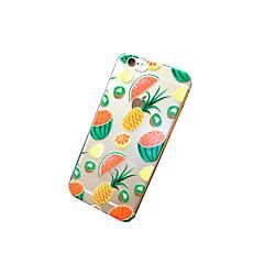 Для Кейс для iPhone 6 / Кейс для iPhone 6 Plus Прозрачный / С узором Кейс для Задняя крышка Кейс для Фрукт Мягкий TPUiPhone 6s Plus/6