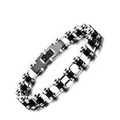Pánské Řetězové & Ploché Náramky Šperky Punkový styl bižuterie Nerez Round Shape Šperky Pro kancelář a kariéra Na den