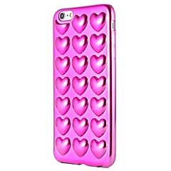 Недорогие Кейсы для iPhone 7-Кейс для Назначение Apple iPhone 7 Plus iPhone 7 Покрытие С узором Кейс на заднюю панель С сердцем Мягкий ТПУ для iPhone 7 Plus iPhone 7