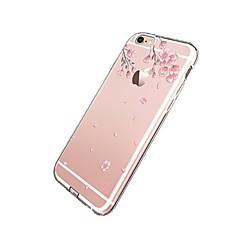 Недорогие Кейсы для iPhone 5-Кейс для Назначение Apple iPhone 7 Plus iPhone 7 Прозрачный С узором Кейс на заднюю панель Цветы Мягкий ТПУ для iPhone 7 Plus iPhone 7