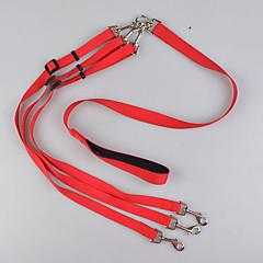 olcso Kutya Nyakörvek, hámok és pórázok-Szempillák Dupla póráz kutyáknak Biztonság Egyszínű Műanyag Fekete Piros Kék