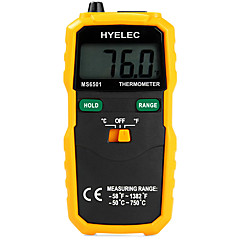 hyelec ms6501 stor lcd skjerm digitalt termometer k type termotermometro med data hold / logging