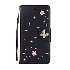 Case for Motorola G5 Plus G4 Plus Wallet Rhinestone Embossed  Butterfly PU Leather Case for Motorola G4